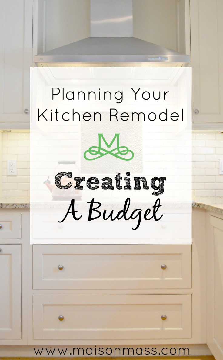 Budgeting for your kitchen remodel maison mass for Budget kitchen remodel
